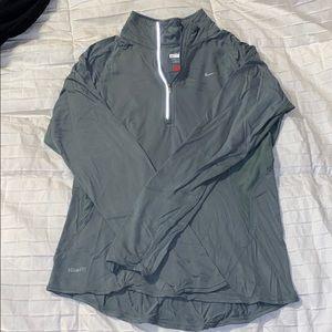 Grey Nike FITDRY 1/4 Zip